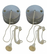 2 x Chrome Effect Ceiling Pull Switches (for Lighting Circuits) 6 amp 1 or 2 Way