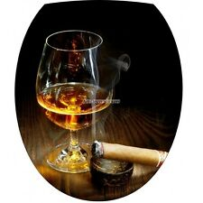 Aufkleber für -deckel WC Glas Cognac 2104