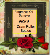 5 ~Dram Sampler of Fragrance Oils   Roller Bottles With FREE Shipping