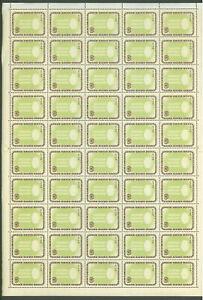 RAB481 1963 MNH Paraguay Sheet 50v Refugee /0.10/ High CV