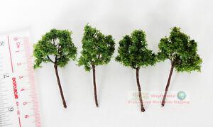 """4 Pack Green Model Tree Tain Railway Scenery Landscape Scale HO N 4cm 2.5"""" S25"""