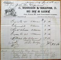 Morrison, NY 1875 Letterhead: Blacksmith & Horse Shoer - New York