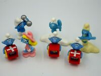 Lot FIGURINES Schtroumpf Mcdonald KINDER 4 à 5 cm the smurf