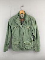 Get Used New York Women's Zip Snap Button Long Sleeve Denim Jacket Size 90 Green