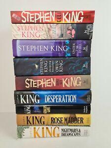 STEPHEN KING Paperback & Hardcover Book Bulk Lot Collection x9 Horror Books