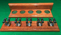 SNOOKER/POOL MAHOGANY HAND CRAFTED 5 CUE RACK.. EASY ASSEMBLY