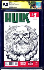 Hulk #1 BLANK CGC SS 9.8 signed ORIGINAL MAESTRO SKETCH Al Milgrom CUSTOM LABEL