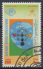 Oman 2001 used Mi.508 Dialog der Zivilisationen Dialogue [gb664]