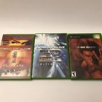 Dead or Alive Trilogy 1 2 3 Original Microsoft Xbox Video Games DOA Ultimate Lot