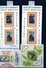 Qu'aiti State in Hadhramaut 1967 Limited Edition Miniature Sheets all Mnh