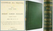 1872*LEABHAR NA FEINNE*HEROIC GAELIC BALLADS*SCOTTISH FINGALLIAN SONGS/CUCHULLIN