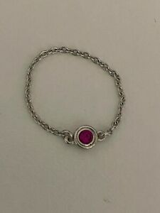 Tiffany Elsa Peretti Color by the Yard Pink Sapphire Ring Size 5