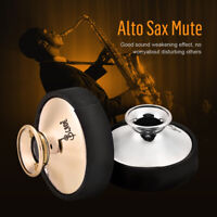 Light-weight Plastic Mute Silencer for Alto Saxophone Sax Gold Silver Accessory