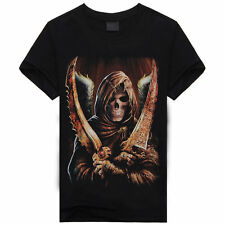 Mens Animal Shirts Skull Tiger Wolfs 3d Print Crew Neck Top Tee T Shirt XXXL A44