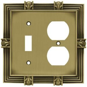 Toggle Outlet Wall Plate Pineapple Antique Brass Franklin Brass 64475