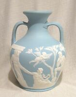 "Wedgwood 10"" Light Blue Jasperware Portland vase"