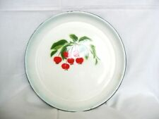 Vintage metal enamel tray Cake / sandwiches plate from 70s Marked