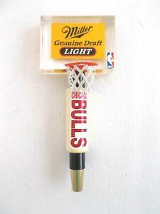 RARE Miller Genuine Draft light CHICAGO BULLS NBA Beer Tap Handle  WITH NET