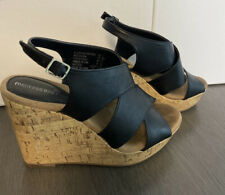Montego bay club wedge sandals Size 7 Black