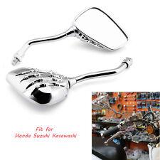 Chrome Skull Motorcycle Rearview Side Mirrors For Honda VTX1300C /Honda VTX1800S