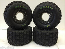 Hiper Tech 3 Beadlock Wheels Maxxis Razr 2 Tires Front/Rear Kit TRX 450R 250R