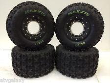 Hiper Tech 3 Beadlock Wheels Maxxis Razr 2 Tires Front/Rear Kit TRX 400EX 400X