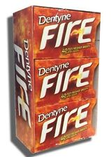 Dentyne FIRE Sugar Free Spicy Cinnamon chewing gum 12 packs