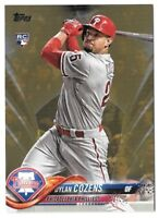 Dylan Cozens 2018 Topps Update GOLD PARALLEL /2018 Phillies Rookie RC #US175