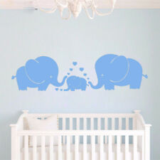 Cute Elephants Parents kid Family Wall Decals Baby Nursery Decoration Wall Art