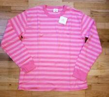 Hanna Andersson Pink Stripe Long John Pajama Shirt Men XL Women 2xl