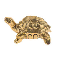 Home Decor Turtle Feng Shui Copper Wealth Lucky Attaching Money Coin Mascot