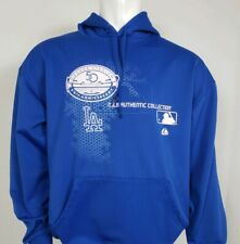 Majestic Authentic Mens Size Large Dodgers 50th Anniversary Hoodie Sweatshirt