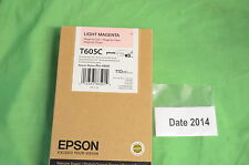 T605C Light Magenta Epson Pro 4800 110ml Genuine Date 2014