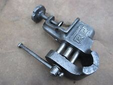 ANTIQUE FOR TABLE FIX  SMALL IRON ENGINEERS PARALLEL VICE GREAT NECK TOOL ANVIL