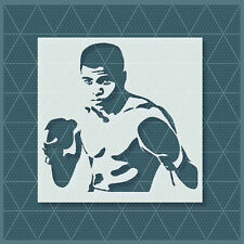 Muhhamad Ali Stencil 11x11 8x8| Mylar (Plastic Sheet) | Reusable