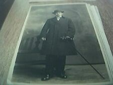 postcard photograph b/w man with cane edgeware road photographers