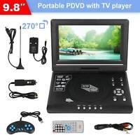 "9.8"" inch  LCD Screen HD TV Portable DVD EVD CD Player 270° Swivel"