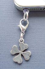 Four Leaf Clover cell phone Charm Anti Dust proof Plug ear cap cover jack C174