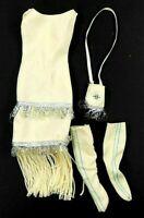 Barbie Vintage Dolls of the World 1992 Native American Cream Dress Bag & Shoes