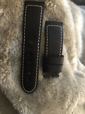 Panerai Dark Brown OEM 24/22mm Leather Strap for Tang Buckle