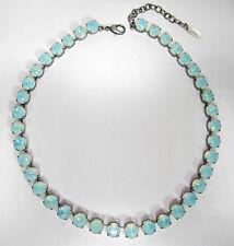Versilberte runde Modeschmuck-Halsketten & -Anhänger aus Glas für Damen