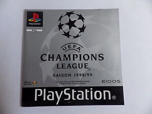 UEFA 1998 PS1 PLAYSTATION Manual Booklet Instruction Manual Fr