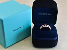 Tiffany&Co.Tiffany T wide Ring in 18k rose gold with pave diamonds, Size 7.5