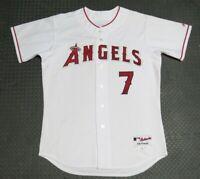 2006 Mickey Hatcher Los Angeles Angels Game Used Worn MLB Baseball Jersey!