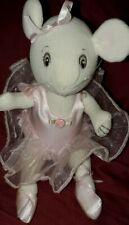 American Girl ANGELINA BALLERINA 2001 Mini JOINTD Plush White  Stuffed Toy 10 IN