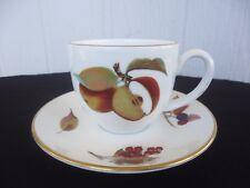 royal worcester evesham tea cup & saucer