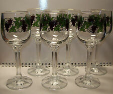 Vintage USSR 1970s set of 6 Big Glasses for Liqueur, Sherry, Vermouth. GILDING