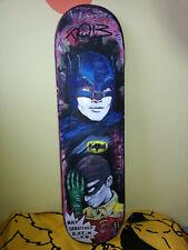 Original Art Skateboard deck wall art Batman and Robin Bristol