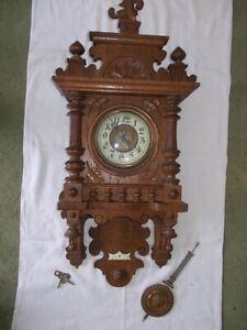 Große alte Wanduhr Regulator Pendeluhr sehr schöne Uhr