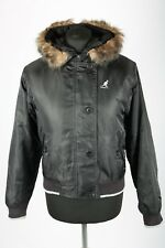 Vintage Kangol Hooded Faux Fur Trim Jacket   Womens 10   Retro Parka Parker 90s